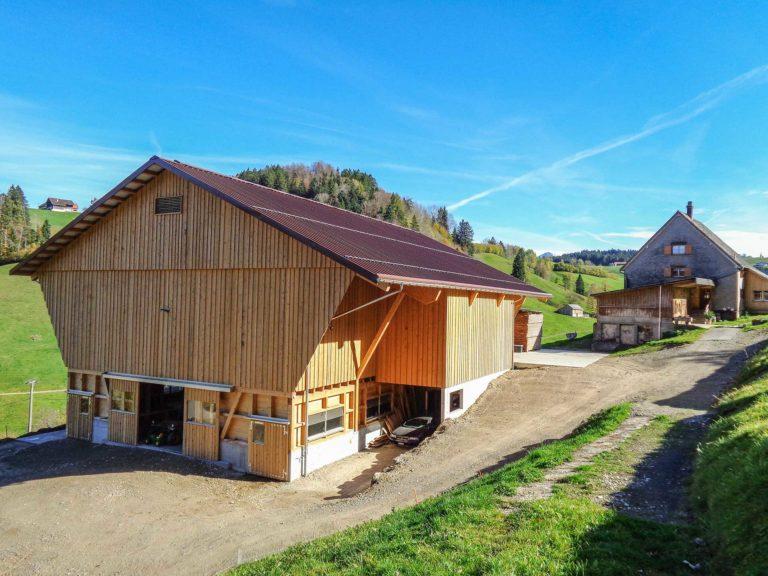 Landwirtschaftgebäude Kuratli Schwendi Brunnadern